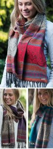 Hippy Scarf~ Hand Woven Acrylic Mixed Pattern Winter Scarf AVAILABLE IN 3 COLOURS~ By Folio Gothic Hippy SC57